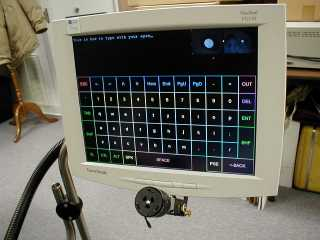 Photo of the Eyegaze screen