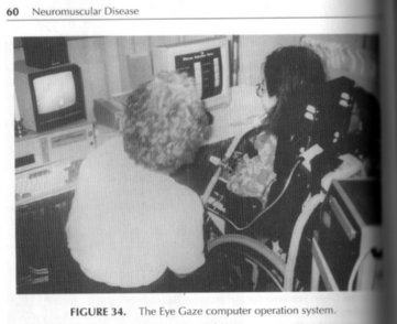 Photo of Michelle using an Eyegaze computer